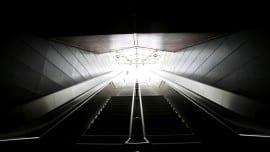 Metro on strike stairs highway stairs minimal