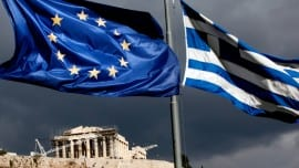 european greek flag simaia acropolis