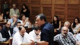 Ο Σταύρος Θεοδωράκης στη συνεδρίαση της Κοινοβουλευτικής Ομάδας του Ποταμιού (23-09-2015)