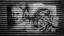 sin stencil street minimal