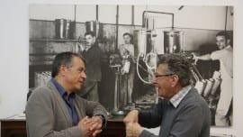 Ο Σταύρος Θεοδωράκης με τον Νικόλαο Τσαούτο