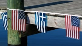 greek american flag