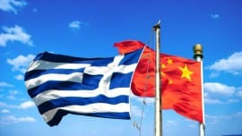 greece china flags