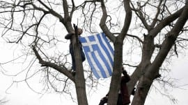 greek flag simaia