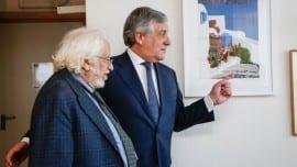 Antonio TAJANI - EP President meets with Giorgos GRAMMATIKAKIS