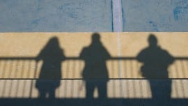 shadows minimal people