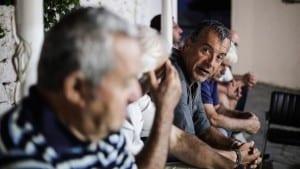 Επίσκεψη Σταύρου Θεοδωράκη στο Αγαθονήσι