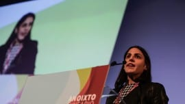 Η επικεφαλής νεολαίας, Μαρία Δαμανάκη