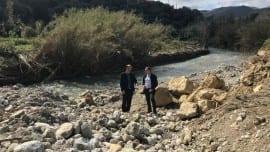 Με τον δήμαρχο Κισσάμου, Θεόδωρο Σταθάκη, στα χωριά που επλήγησαν από την θεομηνία